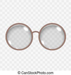 Translucent Round Empty Eye Glasses with Lens