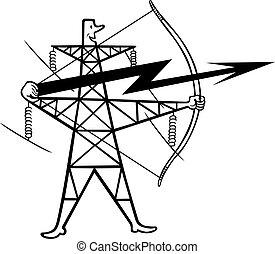 transmisión, apoyo, energía eléctrica