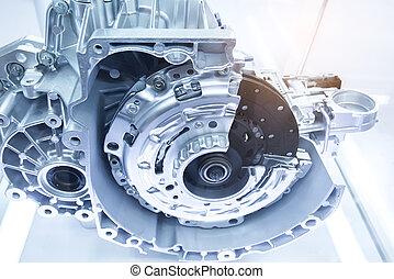 transmisión, automotor, gearbox