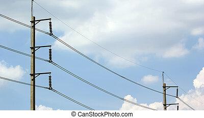 transmisión, cables