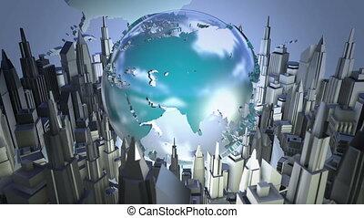 transmisja, świat, ożywienie, pętla