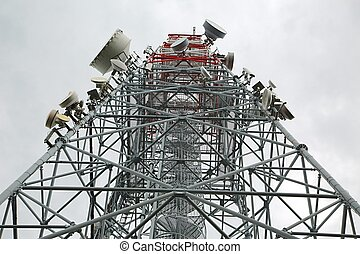 transmisor, mástil, torre