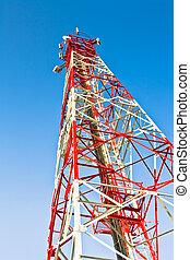 transmisor, y, receptor, antena, telecomunicaciones, para,...