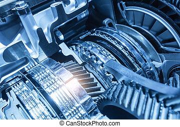 transmissão, automóvel, gearbox