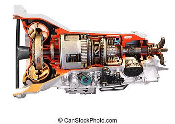 transmissão, car, automático