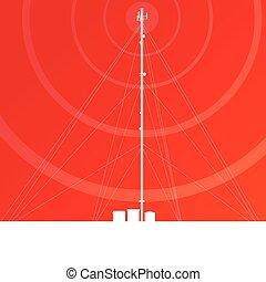 transmissão, comunicação, antena