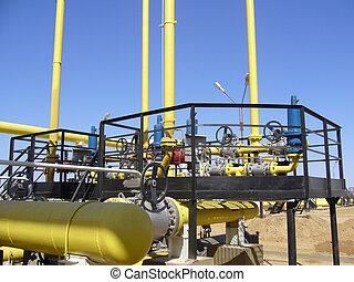 transmissão, indústria, gás, sistema