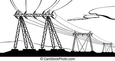 transmissão, voltagem alta