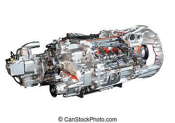transmission, camion, engrenages