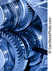Transmission - Close up shot of automotive transmission cut ...