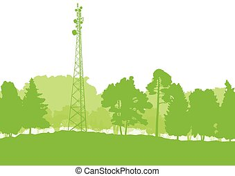 transmission, communication, antenne