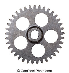 Transmission Gear - A metal transmission gear isolated on...