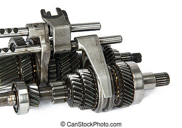 Transmission gears , isolated, on a white background