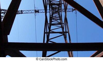 transmission line, vertical panning