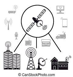 transmission satellite information communication