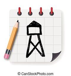 Transmission tower doodle