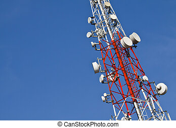 Transmission towers. - Transmission towers on sky background...