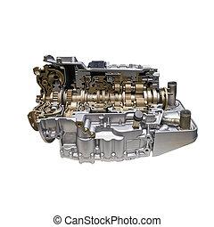 transmission, voiture, moderne, automatique, moteur
