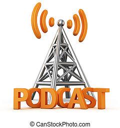 transmissor, podcast
