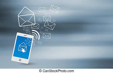 transmitir, sms