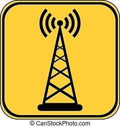 Transmitter button. - Transmitter button on white background...