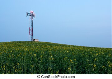 Transmitter - Gsm transmitter station on an agricultural...