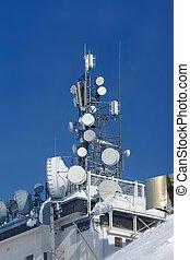 Transmitter - High transmitter in winter snow