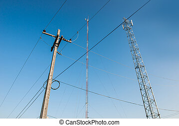 Transmitter mast and electrical post