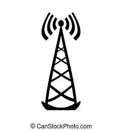 Transmitter symbol icon. - Transmitter symbol icon on white ...