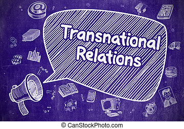 Transnational Relations - Business Concept.