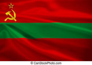 transnistria, 旗, 吹乘風