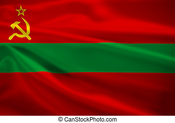 Transnistria flag blowing in the wind