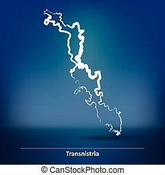 transnistria, griffonnage, carte