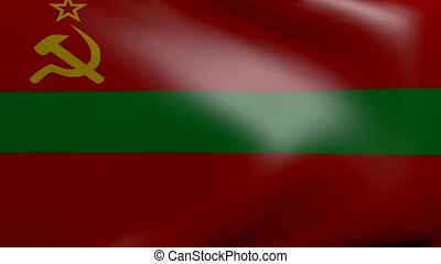 transnistria strong wind flag