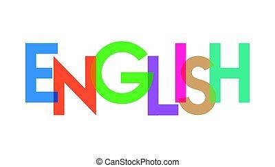 transparant, carta, colorido, inglés