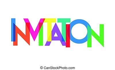 transparant, carta, colorido, invitación