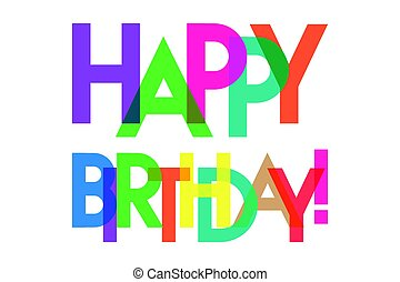 transparant, cumpleaños, carta, colorido, feliz
