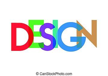 transparant, diseño, carta, colorido