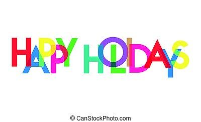 transparant, feriado, carta, colorido, feliz