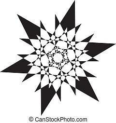 transparence, arabesque, résumé, élément, stellaire,...