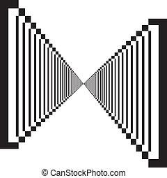 transparence, double, résumé, élément, descendre, perspective, fond, escalier