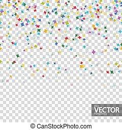 transparence, seamless, vecteur, fond, confetti, fête