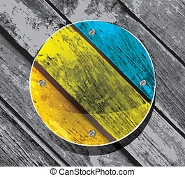 transparency circular plate