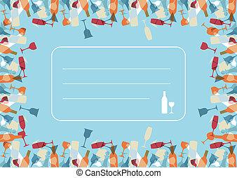 Transparency Cocktail menu design background