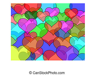 Transparency hearts
