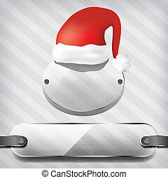 transparency plates with santa hat - transparency plates...