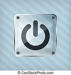transparency power button icon