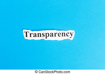 Transparency text on paper. Word Transparency on torn paper. Concept Image