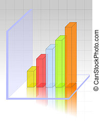 TRANSPARENT 3D GRAPH - Transparent and colourful 3d graph