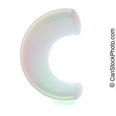 """Transparent alphabet. The letter """"C"""""""